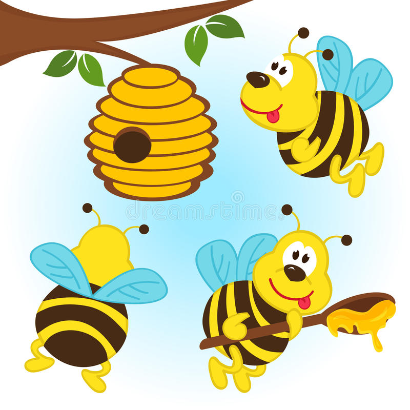 bees around a hive stock vector  illustration of curative