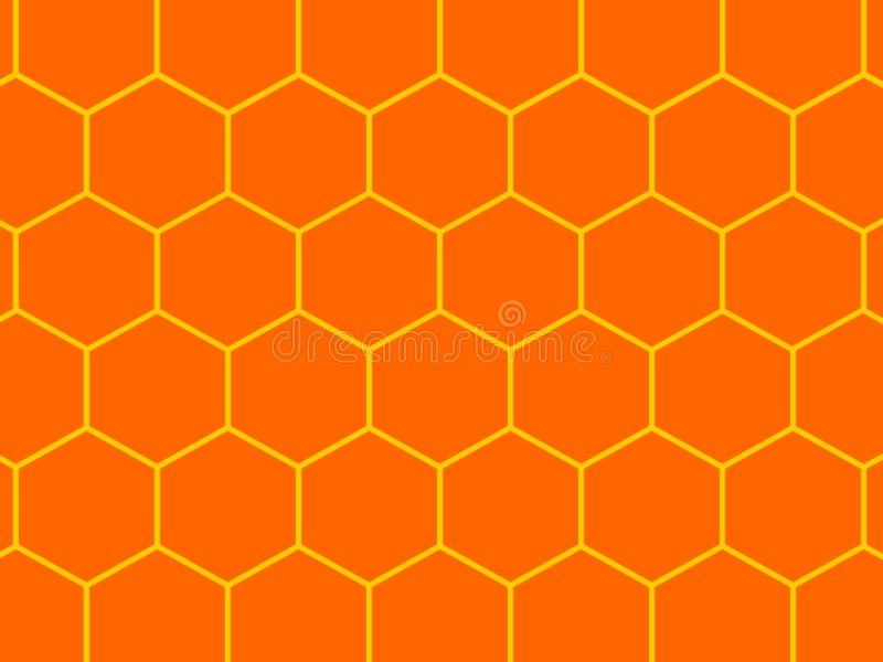Bees honeycomb background vector illustration