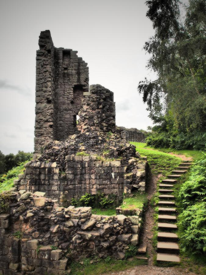 Free Beeston Castle Is A Former Royal Castle In Cheshire, England,perched On A Rocky Sandstone Crag 350 Feet Above The Cheshire Plain. Stock Images - 157379694