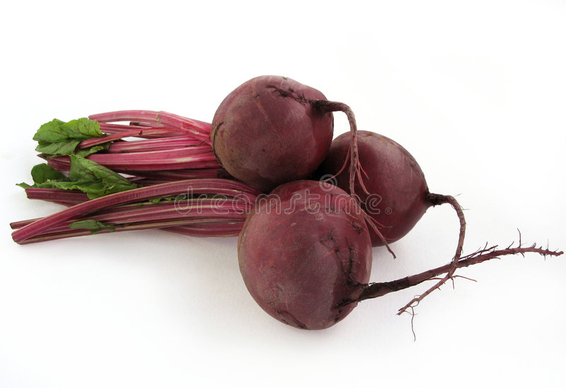 Beet. The beetroots on white background stock images