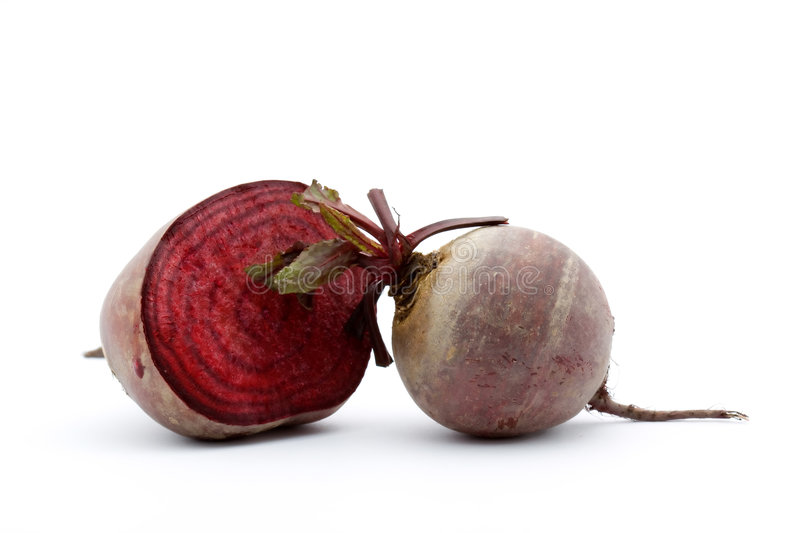 Beet. Red beet studio isolated over white royalty free stock images