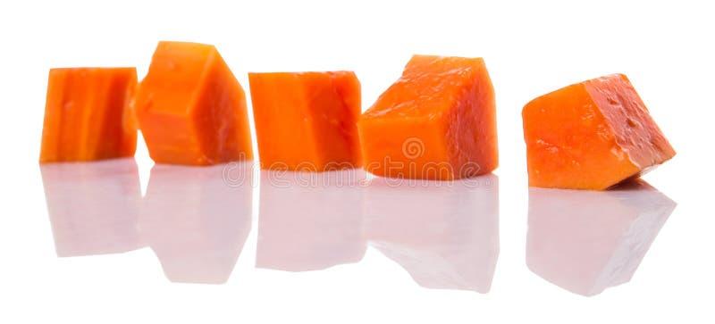 Beet Gerangschikt Papajafruit IX stock afbeeldingen