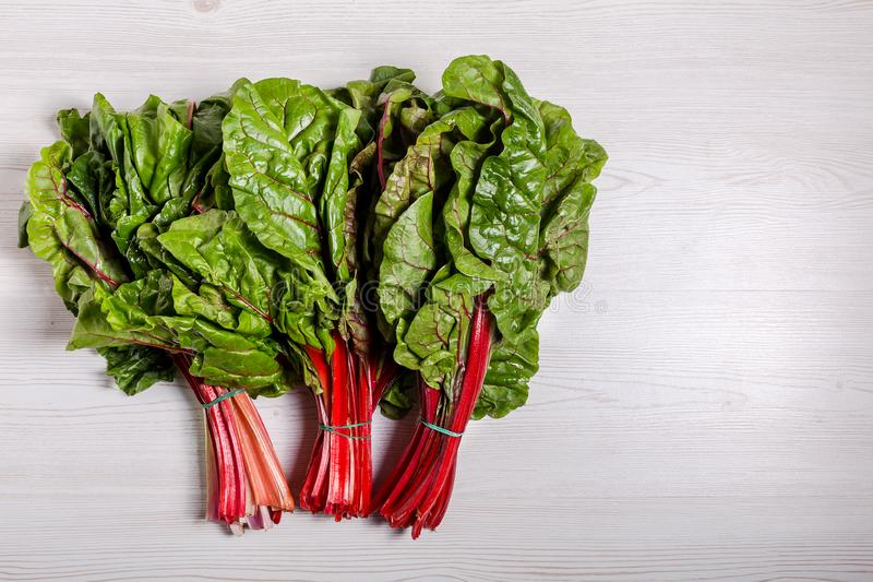 Beet greens leaf of the beetroot plant typicaly food for diet poor in fat royalty free stock photography