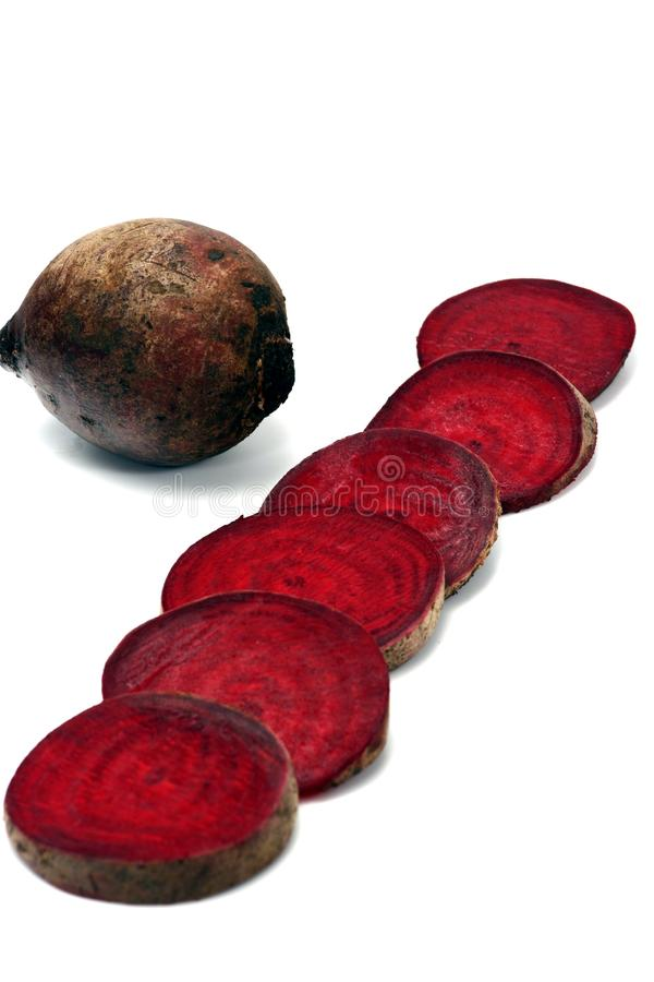 Beet isolated in white stock image
