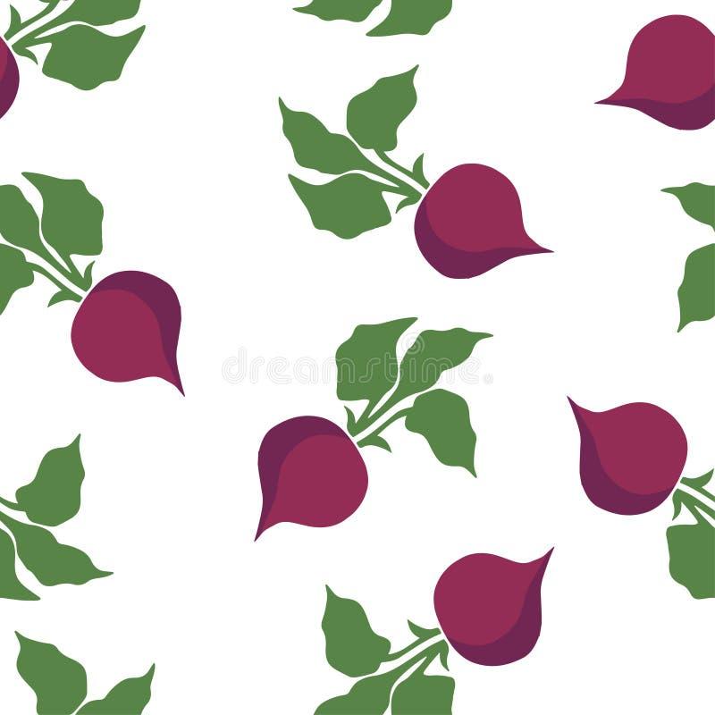 Beet pattern seamless vector illustration