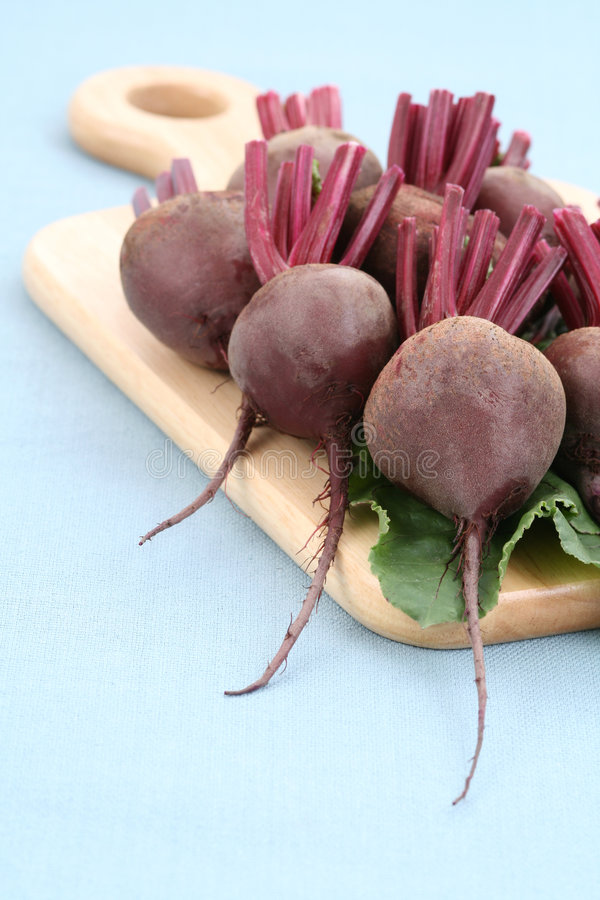 Beet roots. Some fresh and raw beet roots - ready to cook royalty free stock photos