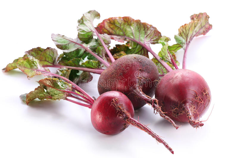 Beet roots. Beet roots on white background stock images