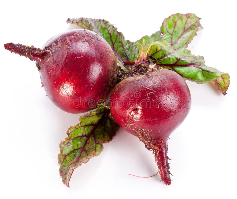 Beet roots. Beet roots on white background royalty free stock photo