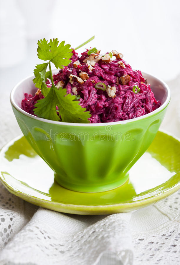 Beet salad stock images