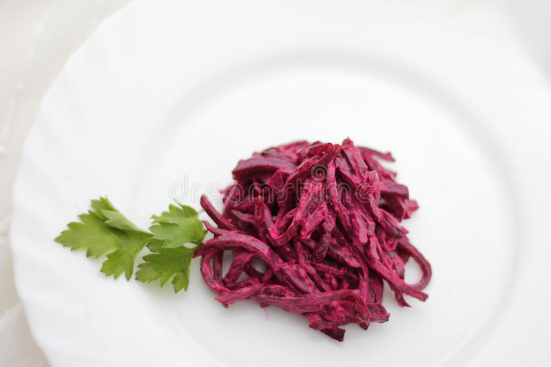 Beet salad with parsley. Colorfull beet salad with parsley stock images