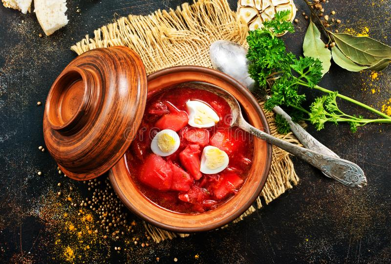Beet soup royalty free stock photography