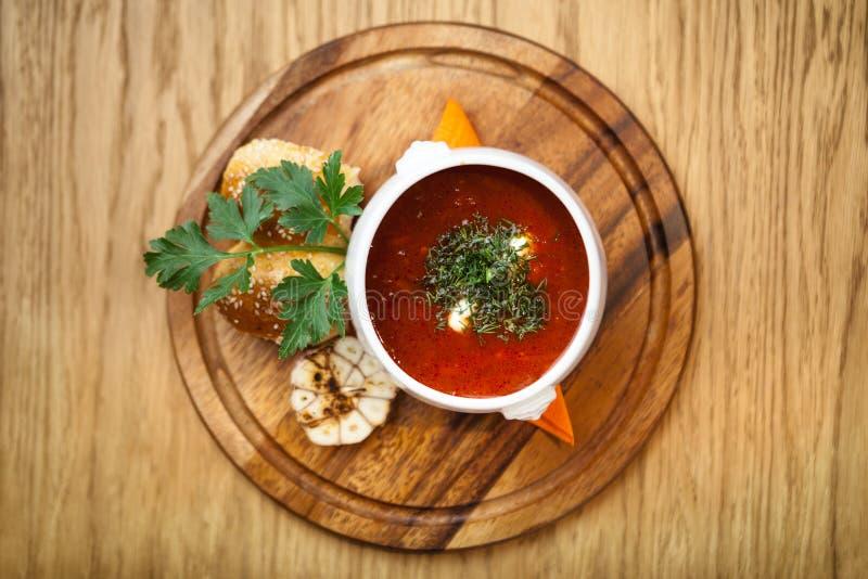 Beet soup borscht royalty free stock photo