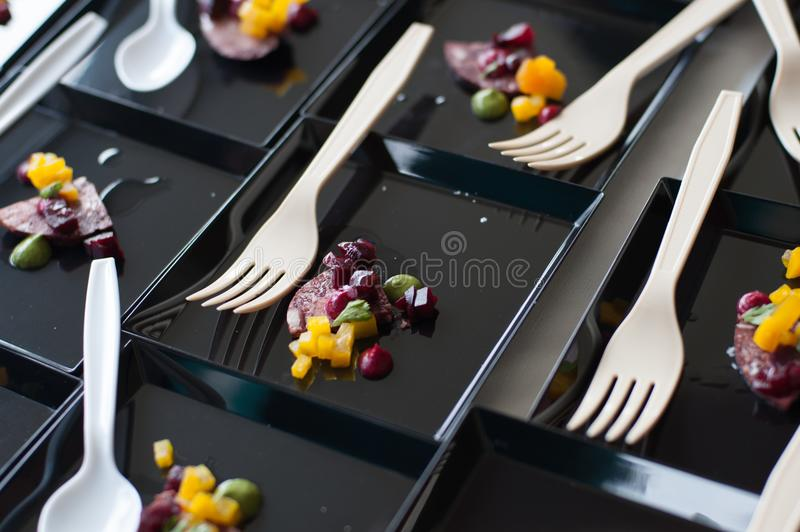 Beet and veggies. At the Austin Food and Wine Festival royalty free stock photos
