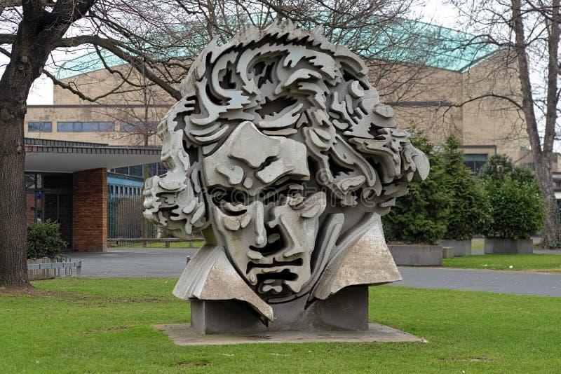Beethon - ein Fehlschlag von Ludwig Van Beethoven in Bonn lizenzfreie stockfotografie