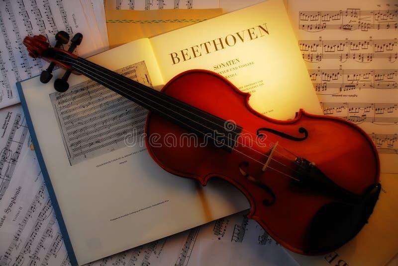 beethoven 4 skrzypce. zdjęcia royalty free