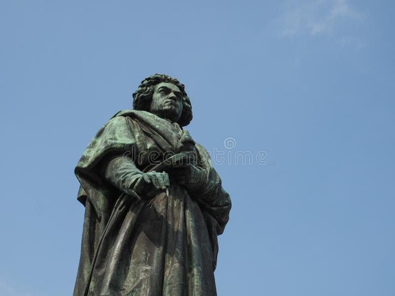 Beethoven Denkmal (1845) in Bonn royalty free stock photo