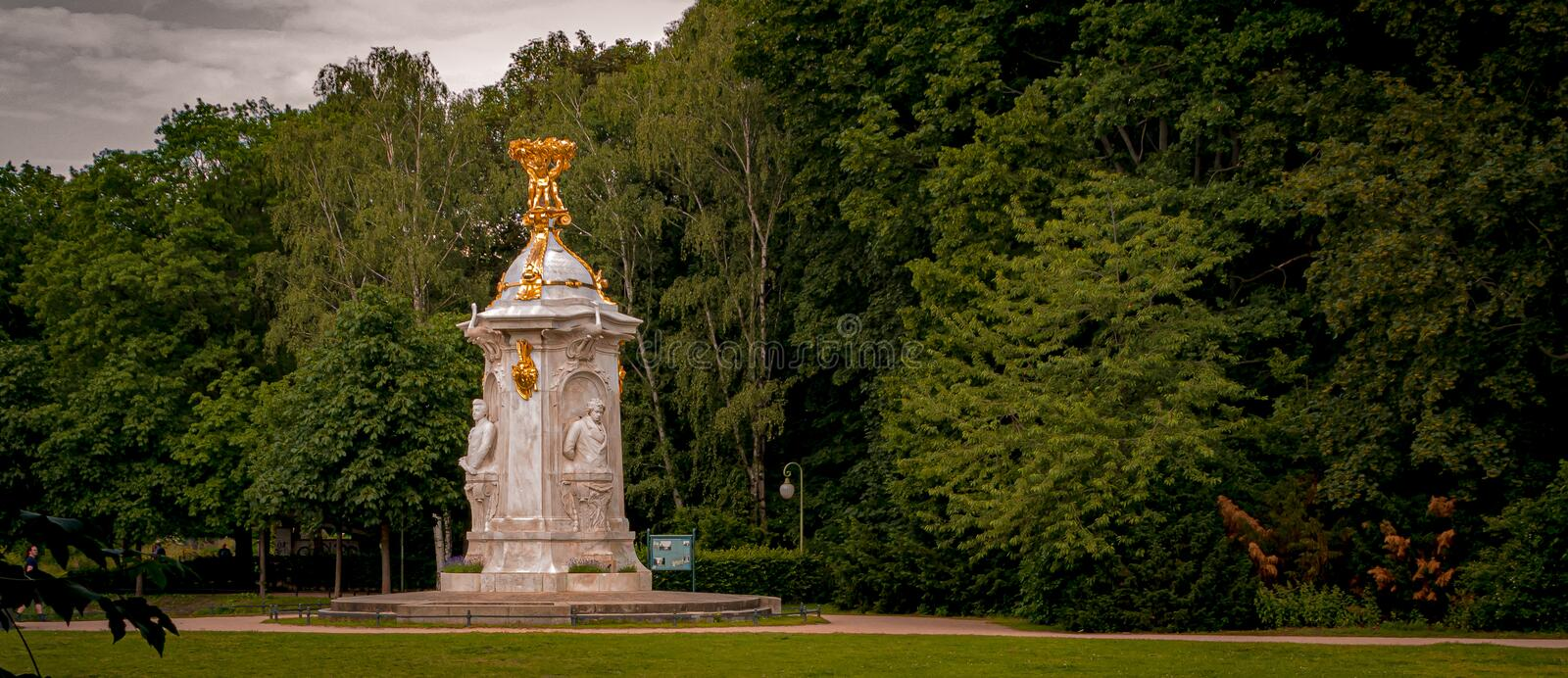 Beethoven-Haydn-Mozart Monument in Tiergarten park in Berlin, Germany. A Beethoven-Haydn-Mozart Monument in Tiergarten park in Berlin, Germany stock image