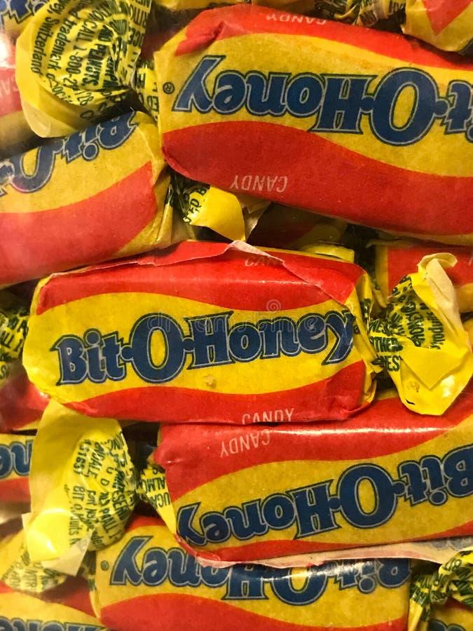 Beetje O Honey Candies stock afbeeldingen