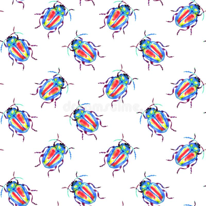 Beetle pattern vector illustration