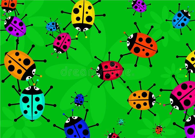Beetle swarm stock illustration