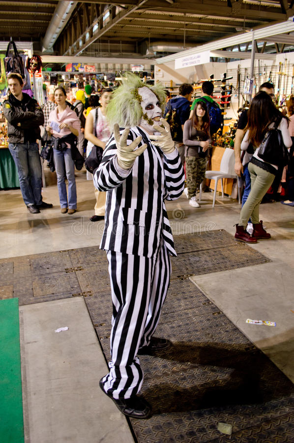 Beetlejuice przy Cartoomics 2014 fotografia royalty free