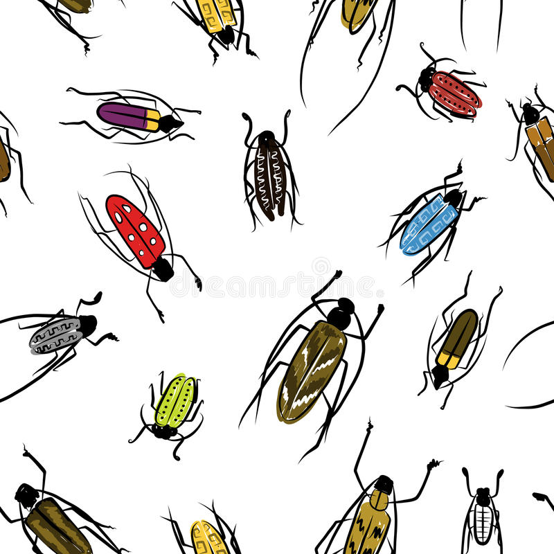 Download Beetles Sketch, Pattern For Your Design Stock Vector - Illustration of nature, parasite: 31861735