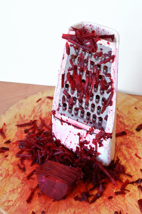 Beetroot can be grated, cook beets royalty free stock photography