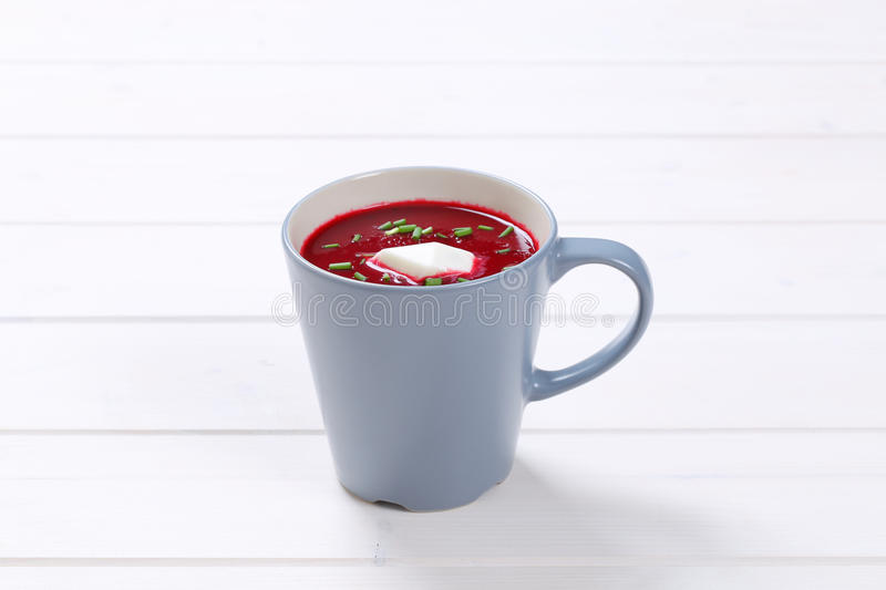Beetroot cream soup stock image