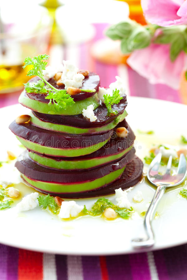 Download Beetroot,goat Cheese And Avocado Stock Photo - Image: 15394790