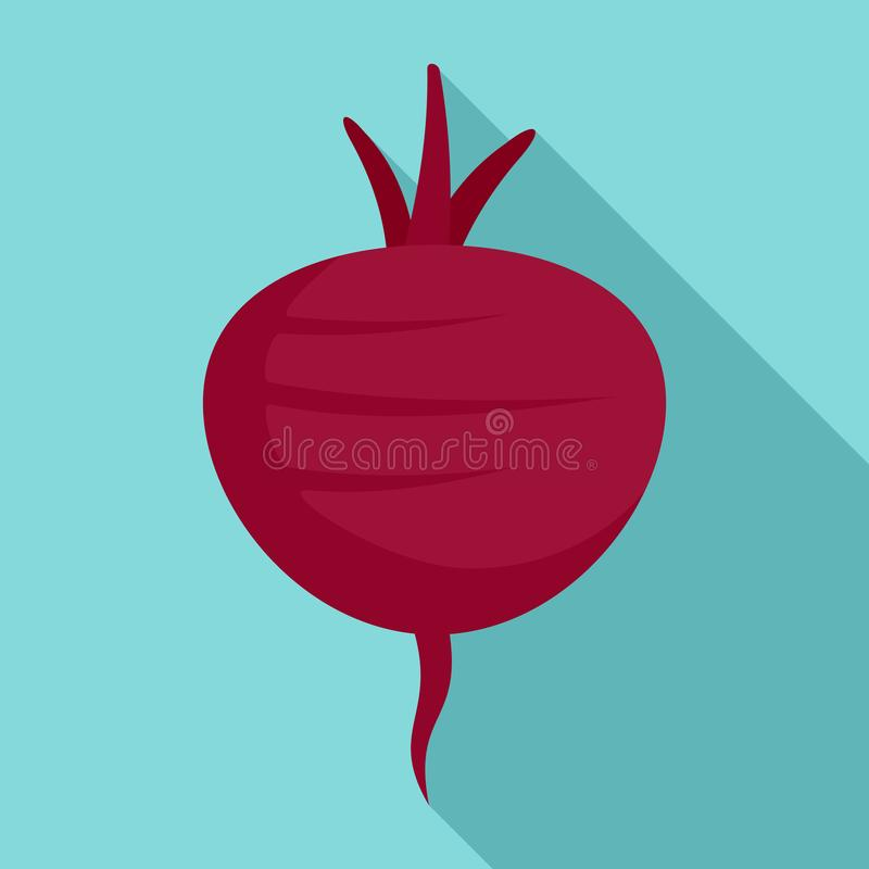 Beetroot icon, flat style vector illustration