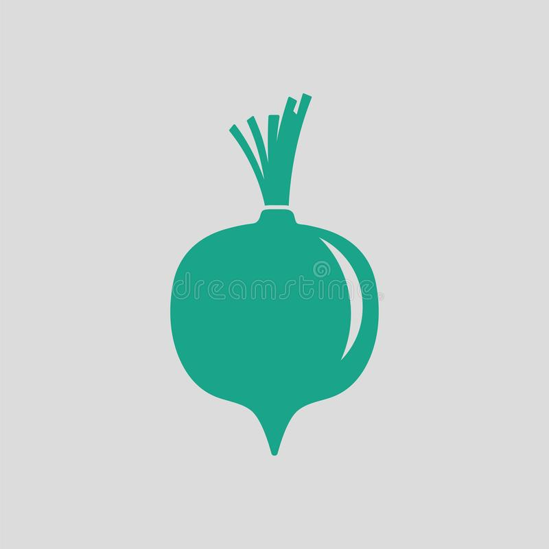 Beetroot icon. Gray background with green. Vector illustration stock illustration