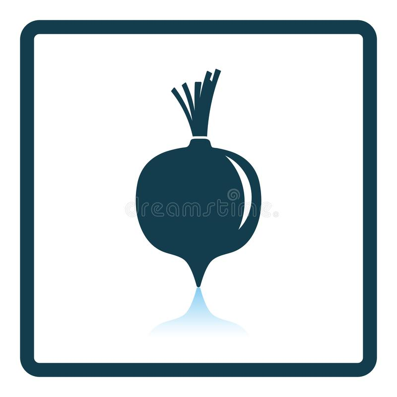 Beetroot icon. Shadow reflection design. Vector illustration royalty free illustration
