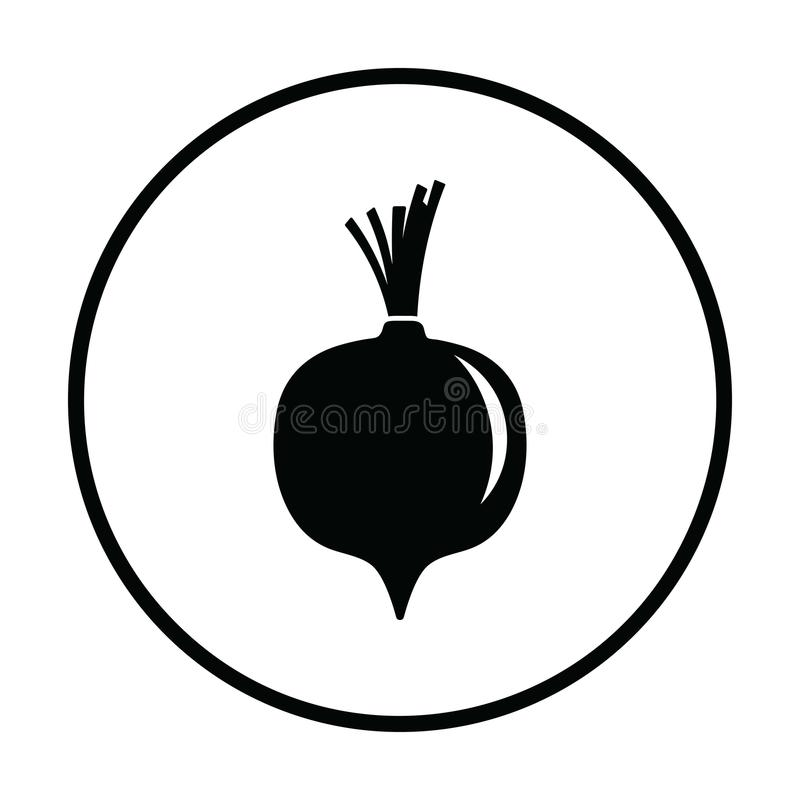 Beetroot icon. Thin circle design. Vector illustration vector illustration