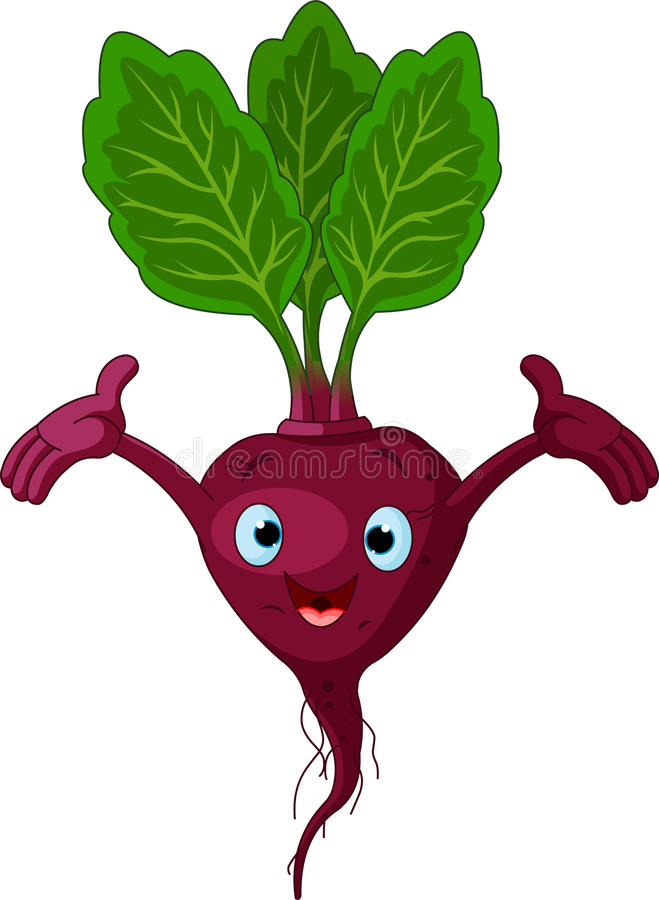 Beetroot Presenting Something royalty free illustration