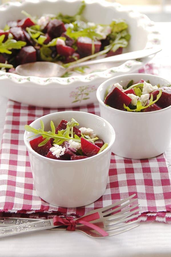Beetroot and rocket salad stock photo