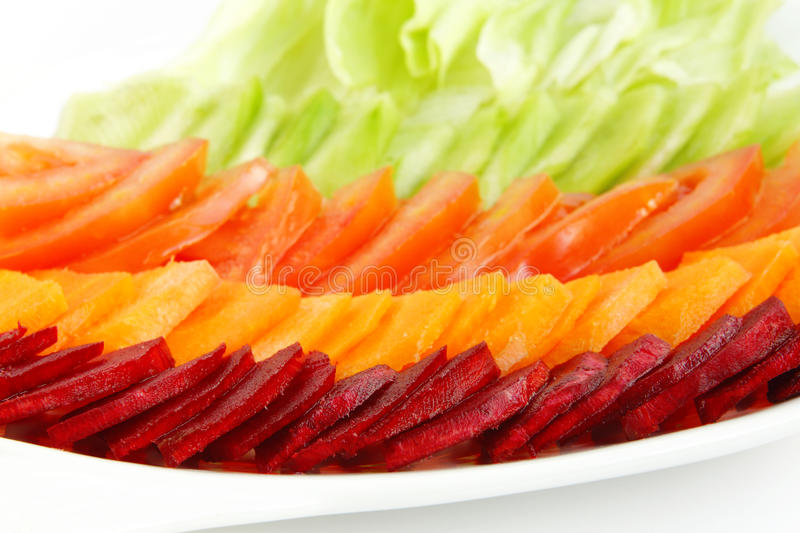 Beetroot, tomato, carrot & Lettuce salad