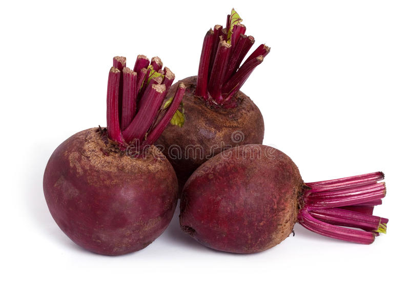 Beets. Beet roots isolated on a white background stock photography
