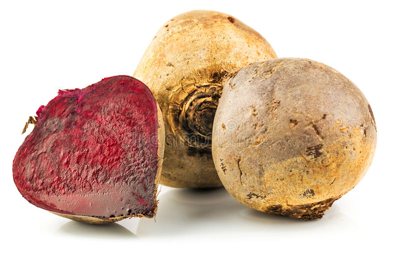 Beets with beet cut royalty free stock photo