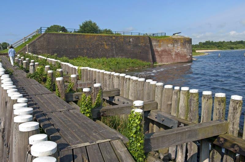 Befästning de Napoleonic vallarna på sjön Veere royaltyfri fotografi