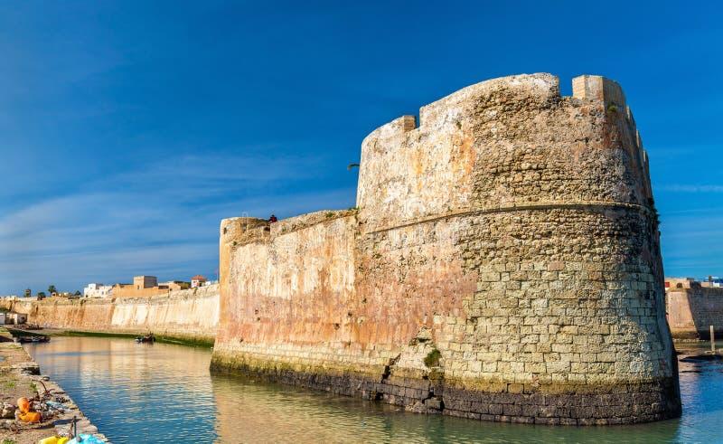 Befästningar av den portugisiska staden av Mazagan, El Jadida, Marocko royaltyfri bild
