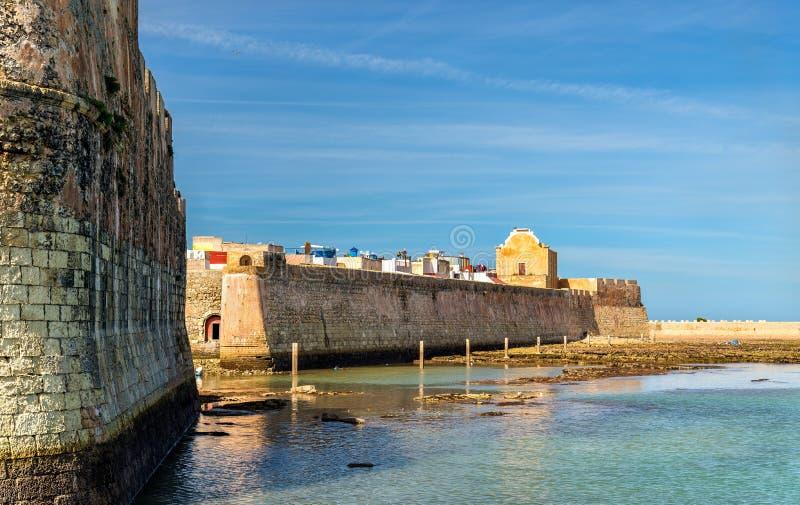 Befästningar av den portugisiska staden av Mazagan, El Jadida, Marocko fotografering för bildbyråer
