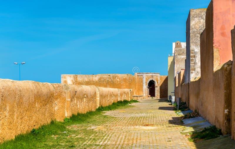 Befästningar av den portugisiska staden av Mazagan i El-Jadidia, Marocko arkivfoto
