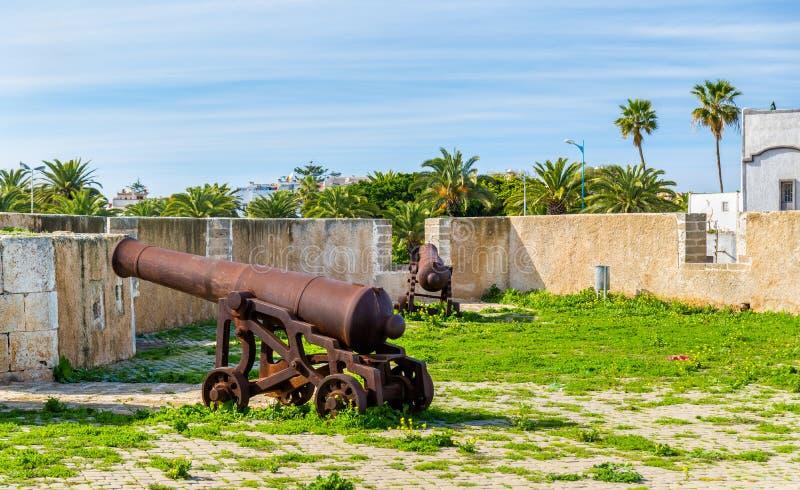 Befästningar av den portugisiska staden av Mazagan i El-Jadidia, Marocko arkivfoton