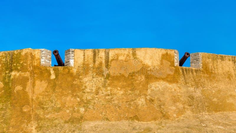 Befästningar av den portugisiska staden av Mazagan i El-Jadidia, Marocko arkivbild