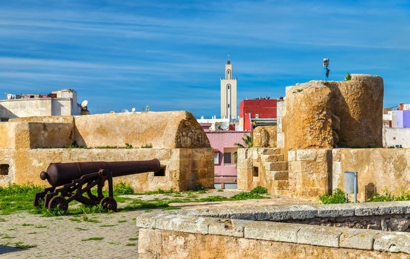 Befästningar av den portugisiska staden av Mazagan i El-Jadidia, Marocko fotografering för bildbyråer