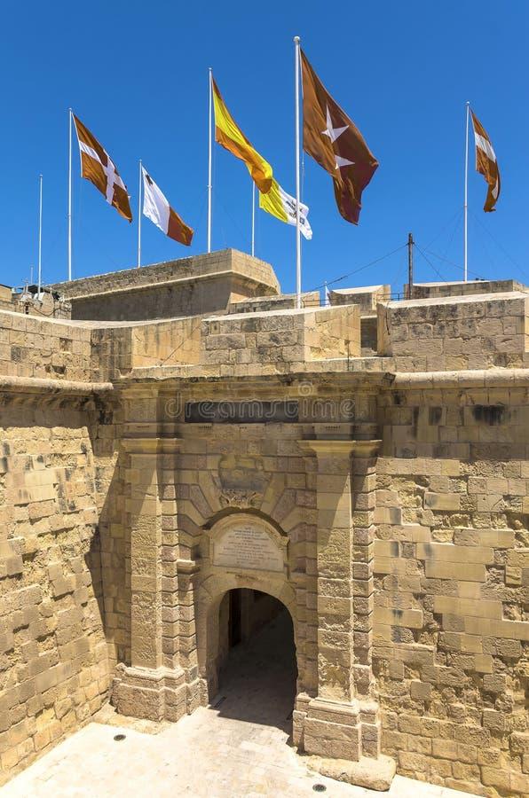 Befästningar av Malta - tre städer arkivfoton