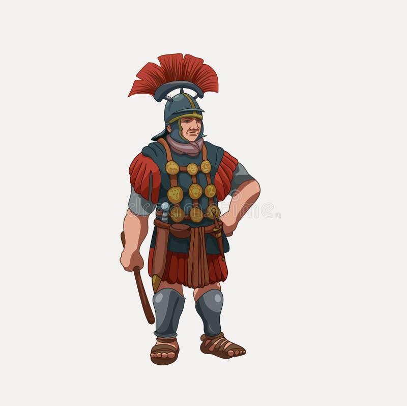 Befehlshaber der Roman Legions-Illustration vektor abbildung