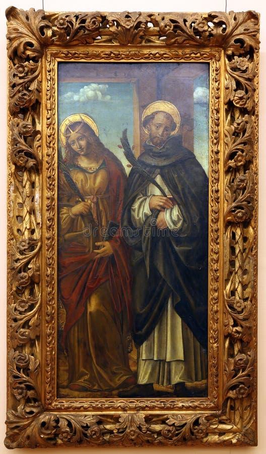 Befendente Ferrari: St Catherine de Alexandria e St Peter Martyr fotografia de stock royalty free