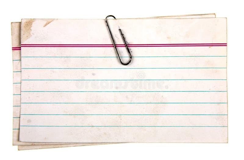 Befestigte Papiere stockbilder