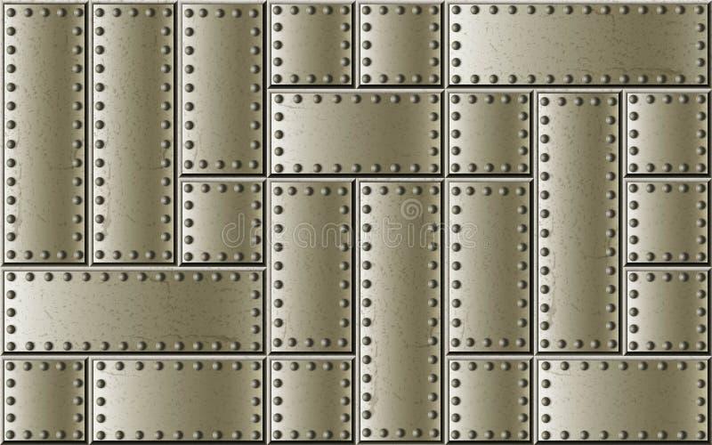 Befestigter Stahlniet- und -schraubenmetallhintergrund stockfotografie